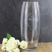 Personalised In Loving Memory Glass Memorial Vase
