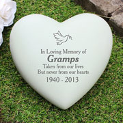 Personalised Dove Heart Memorial Ornament