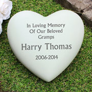 Personalised Resin Heart Memorial Ornament