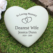 Personalised Floating Hearts Heart Memorial Ornament