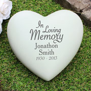 Personalised In Loving Memory Heart Memorial Ornament