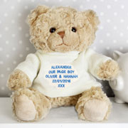 Personalised Page Boy Teddy Bear Thank You Gift