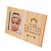 Personalised My First Easter Wooden Baby Photo Frame