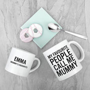Personalised Mummy & Me Favourite People Mugs