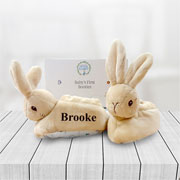 Personalised Peter Rabbit My First Baby Booties