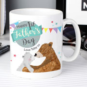 Personalised 1st Father's Day Daddy Bear Ceramic Mug