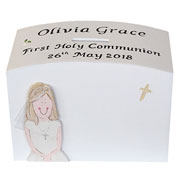 Personalised First Holy Communion Money Box for a Girl