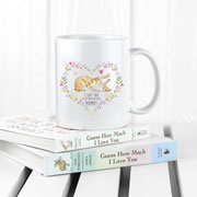 Personalised Guess How Much I Love You Heart Wreath Mug