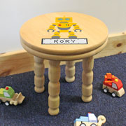 Children's Personalised Wooden Robot Stool