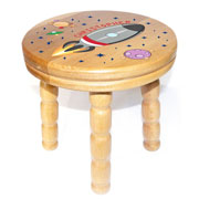 Children's Personalised Wooden Rocket Stool