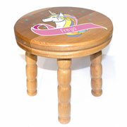 Children's Personalised Wooden Unicorn Stool
