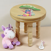 Child's Personalised Wooden Pixie Stool