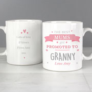 Personalised Pink Promoted To China Mug New Female Role