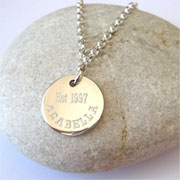 Engraved Duchess Sterling Silver Belcher Necklace