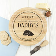 Personalised Extra Mature Cheese Board & Knives Set