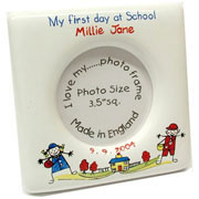 My First Day At School Personalised Bone China Photo Frame