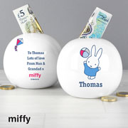 Personalised Miffy Playful Ceramic Money Box
