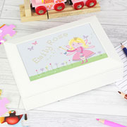 Personalised Garden Fairy Jewellery Box