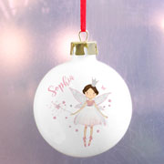 Personalised Fairy Princess Ceramic Christmas Tree Bauble