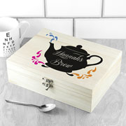 My Favourite Brews Personalised Wooden Tea Box & Teas