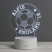 Boy's Personalised Football LED Colour Changing Night Light