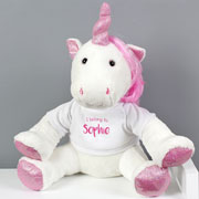 Personalised I Belong To Plush Unicorn Toy