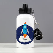 Boy's Personalised Rocket Drinks Water Bottle