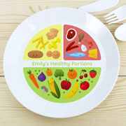 Personalised Healthy Eating Portions Plastic Plate