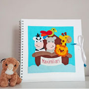 Large Noah's Ark Personalised Felt Baby Photo Album