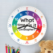 Personalised What Time Is It Wooden Clock