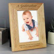 Personalised Godmother Wooden 5x7 Inch Photo Frame