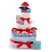 Boy's Luxury Paddington Bear Baby Nappy Cake