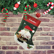 Personalised Embroidered 3D Santa Christmas Stocking