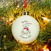 Personalised My 1st Christmas Teddy Bear Bauble