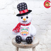 Personalised Cubbies Christmas Snowman Soft Baby Toy