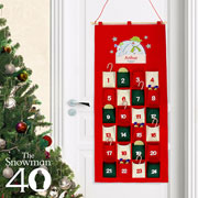 Personalised The Snowman & the Snowdog Felt Advent Calendar