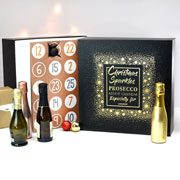 Personalised Prosecco Advent Calendar Box