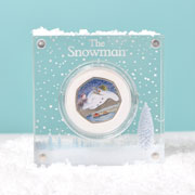 Silver Proof Snowman 50p in a Deluxe Personalised Gift Box