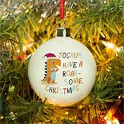 Personalised Dinosaur Christmas Tree Bauble