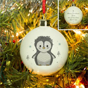 Personalised Pebbles the Penguin Tree Bauble