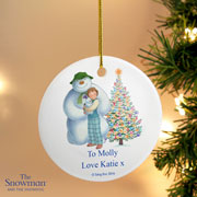 Personalised The Snowman & the Snowdog Friends Decoration