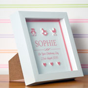3D Personalised Box Frame for a Baby Girl