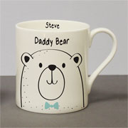 Personalised Daddy Bear Large Bone China Balmoral Mug