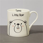 Personalised Little Bear Bone China Balmoral Mug