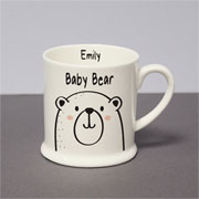 Personalised Baby Bear Bone China Balmoral Mug