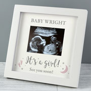 Personalised Its A Girl 4x3 Inch Baby Scan Photo Frame