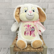 Personalised White Cubbies Easter Bunny Soft Toy