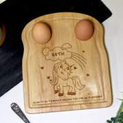Personalised Wooden Unicorn Egg and Soilders Board