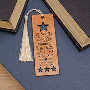 Personalised Wooden Bookmark To The Moon and Back