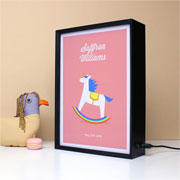 Personalised Unicorn A4 Baby Light Box